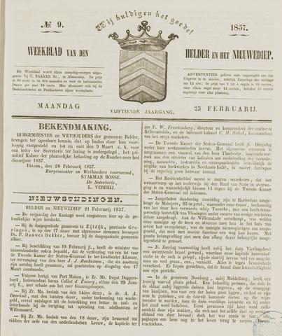 Weekblad van Den Helder en het Nieuwediep 1857-02-23