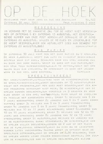 Op De Hoek, weekblad voor Akersloot 1960-07-30