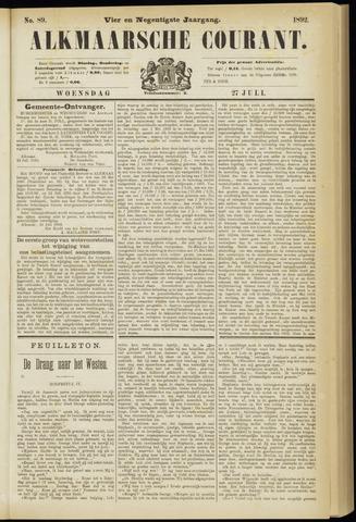 Alkmaarsche Courant 1892-07-27