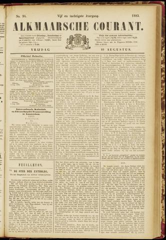 Alkmaarsche Courant 1883-08-10