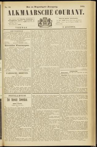 Alkmaarsche Courant 1894-08-03