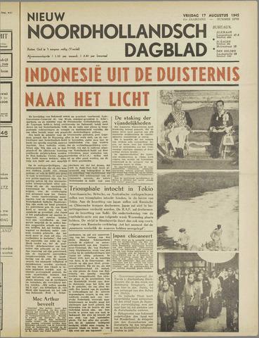 Nieuw Noordhollandsch Dagblad : voor Alkmaar en omgeving 1945-08-17
