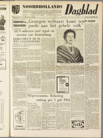 Noordhollands Dagblad : dagblad voor Alkmaar en omgeving 1960-09-20