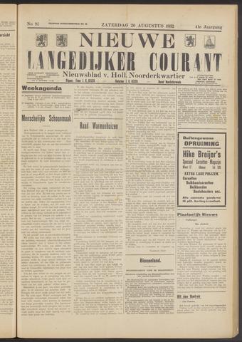 Nieuwe Langedijker Courant 1932-08-20