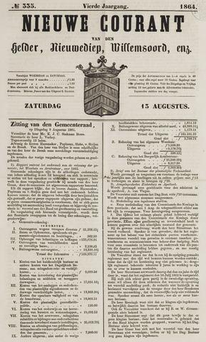 Nieuwe Courant van Den Helder 1864-08-13