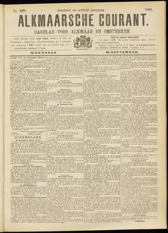 Alkmaarsche Courant 1906-09-26