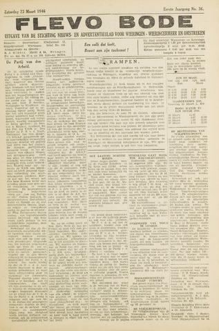 Flevo-bode: nieuwsblad voor Wieringen-Wieringermeer 1946-03-23