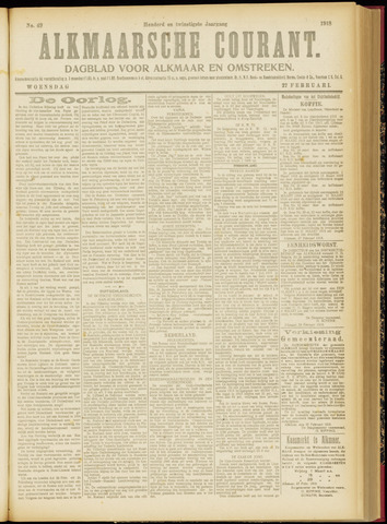 Alkmaarsche Courant 1918-02-27