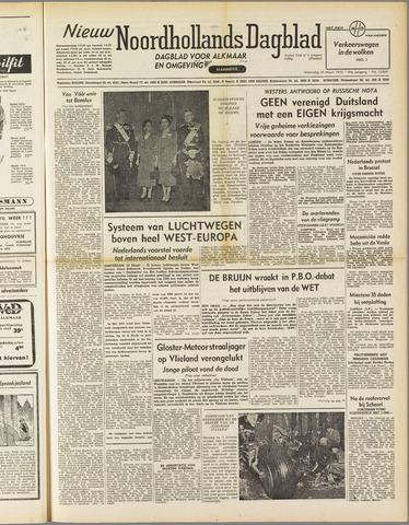 Nieuw Noordhollandsch Dagblad : voor Alkmaar en omgeving 1952-03-26