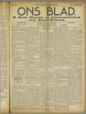 Ons Blad : katholiek nieuwsblad voor N-H 1908-06-24