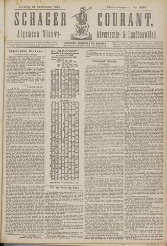 Schager Courant 1920-09-28