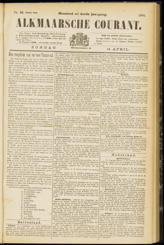 Alkmaarsche Courant 1901-04-14