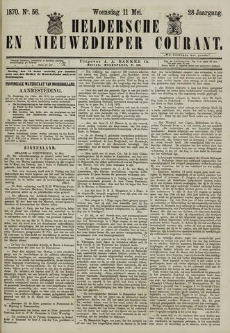 Heldersche en Nieuwedieper Courant 1870-05-11
