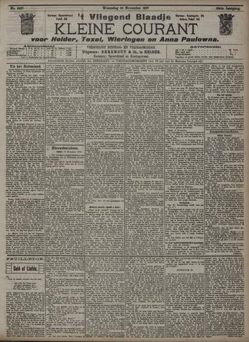 Vliegend blaadje : nieuws- en advertentiebode voor Den Helder 1907-11-20