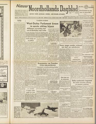 Nieuw Noordhollandsch Dagblad : voor Alkmaar en omgeving 1949-09-08