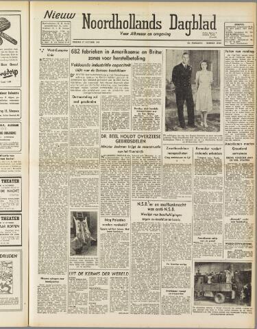 Nieuw Noordhollandsch Dagblad : voor Alkmaar en omgeving 1947-10-17