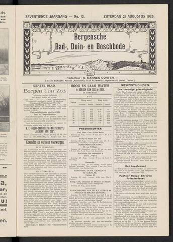 Bergensche bad-, duin- en boschbode 1926-08-21