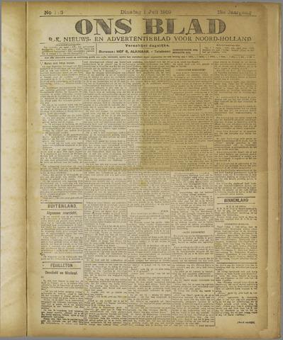 Ons Blad : katholiek nieuwsblad voor N-H 1919-07-01