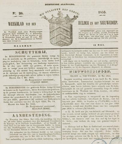Weekblad van Den Helder en het Nieuwediep 1855-05-14
