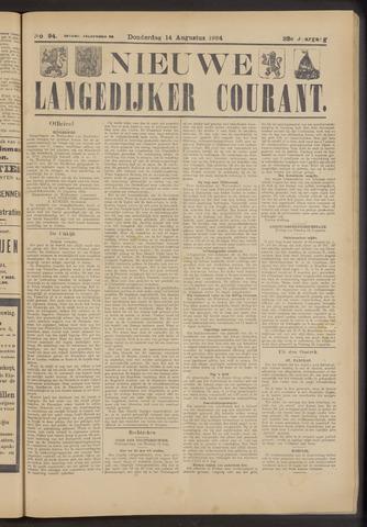 Nieuwe Langedijker Courant 1924-08-14
