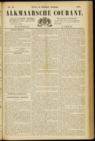 Alkmaarsche Courant 1885-04-08