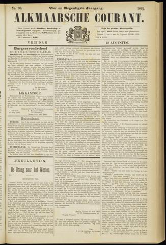 Alkmaarsche Courant 1892-08-12