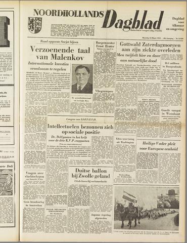 Noordhollands Dagblad : dagblad voor Alkmaar en omgeving 1953-03-16