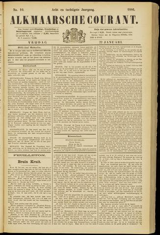 Alkmaarsche Courant 1886-01-22