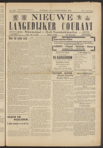 Nieuwe Langedijker Courant 1933-09-02
