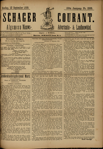 Schager Courant 1889-09-15