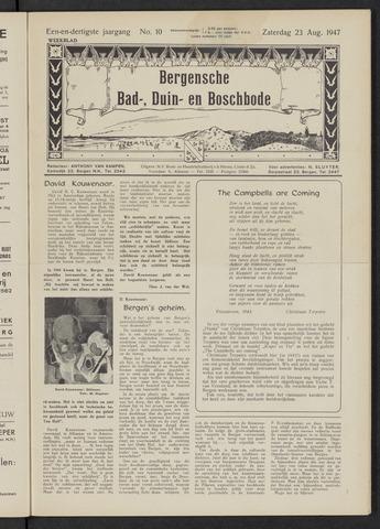 Bergensche bad-, duin- en boschbode 1947-08-23