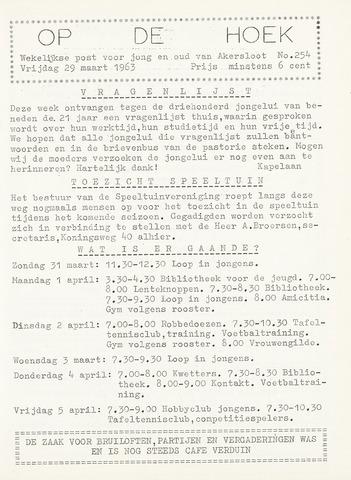 Op De Hoek, weekblad voor Akersloot 1963-03-29