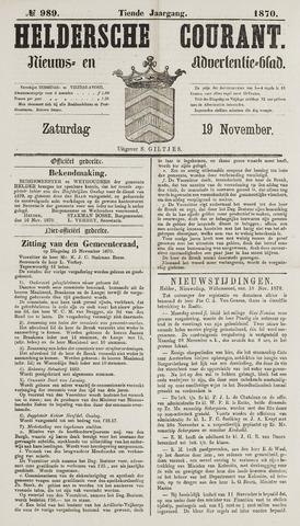 Heldersche Courant 1870-11-19