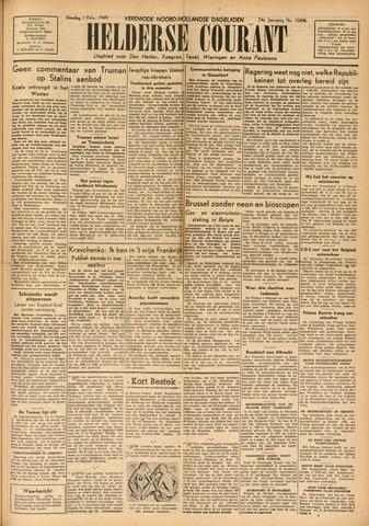 Heldersche Courant 1949-02-01