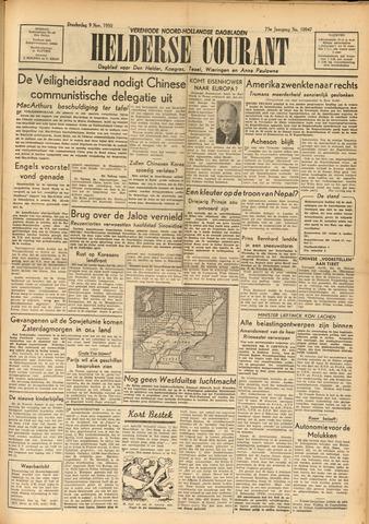 Heldersche Courant 1950-11-09
