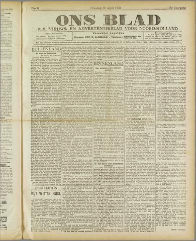 Ons Blad : katholiek nieuwsblad voor N-H 1920-04-20
