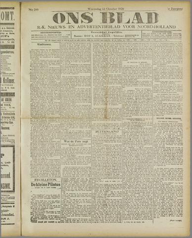Ons Blad : katholiek nieuwsblad voor N-H 1920-10-13