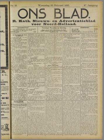 Ons Blad : katholiek nieuwsblad voor N-H 1910-02-23