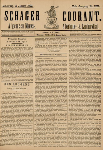 Schager Courant 1889-01-31