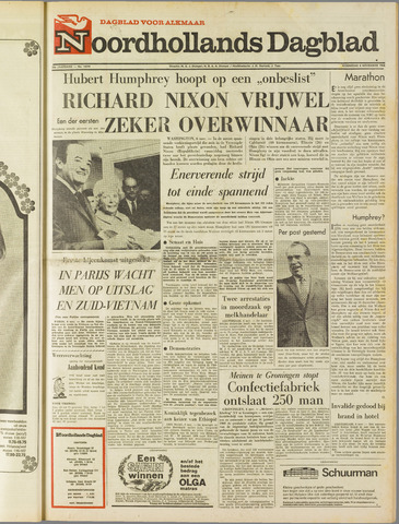Noordhollands Dagblad : dagblad voor Alkmaar en omgeving 1968-11-06
