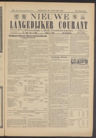 Nieuwe Langedijker Courant 1930-01-28