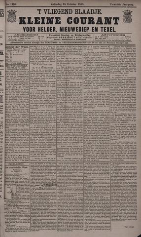 Vliegend blaadje : nieuws- en advertentiebode voor Den Helder 1884-10-25