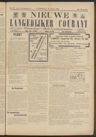 Nieuwe Langedijker Courant 1933-07-15