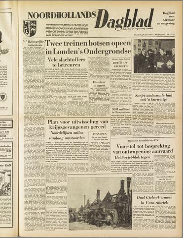 Noordhollands Dagblad : dagblad voor Alkmaar en omgeving 1953-04-09