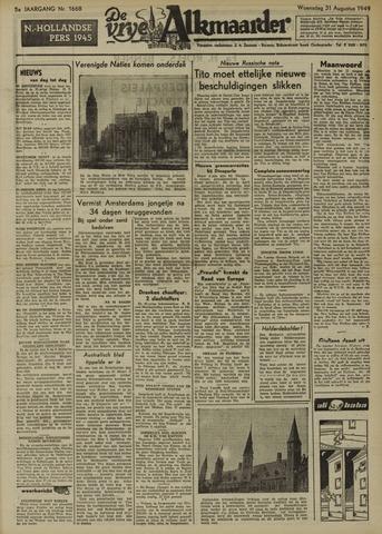 De Vrije Alkmaarder 1949-08-31