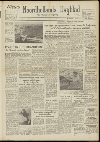 Nieuw Noordhollandsch Dagblad : voor Alkmaar en omgeving 1948-04-01