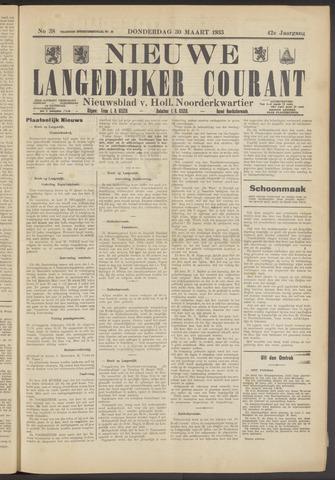 Nieuwe Langedijker Courant 1933-03-30
