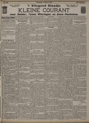 Vliegend blaadje : nieuws- en advertentiebode voor Den Helder 1909-02-10