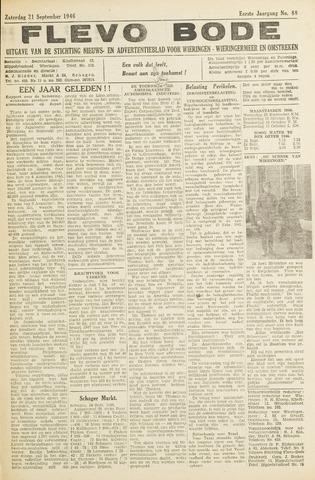Flevo-bode: nieuwsblad voor Wieringen-Wieringermeer 1946-09-21