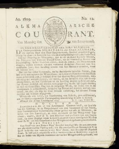 Alkmaarsche Courant 1809-03-20
